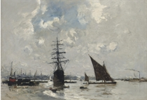 Ships on the Thames