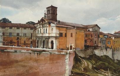 Along the Tiber River