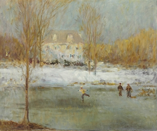 Skaters in East Hampton, New York