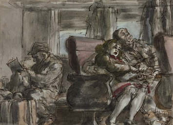Passengers in a Train Car