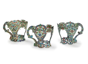 Three Silver and Plique-á-Jour