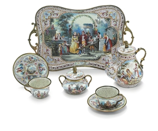 A VIENNESE SILVER AND ENAMEL M