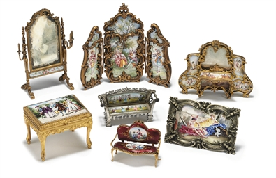 A GROUP OF SEVEN VIENNESE GILT