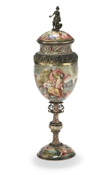 A VIENNESE SILVER AND ENAMEL S