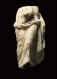 A ROMAN MARBLE FRAGMENTARY FIG