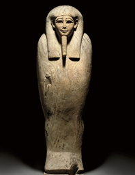 AN EGYPTIAN WOOD MUMMY SARCOPH