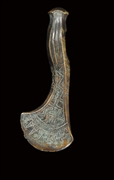 A CAUCASIAN BRONZE AXE-HEAD