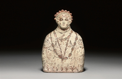 A PHRYGIAN TERRACOTTA BUST OF