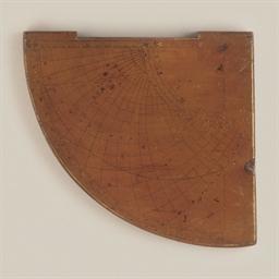 A wooden astrolabic quadrant