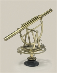 A lacquered brass theodolite