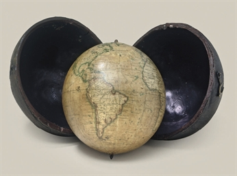 An English 3-inch pocket globe