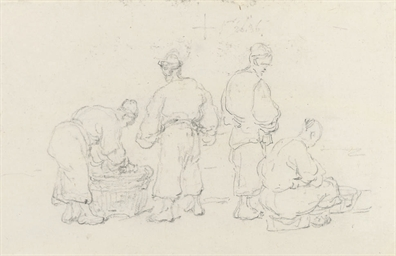 Four Chinese figures: Buyers a
