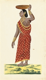 Ten portraits of Indian Figure