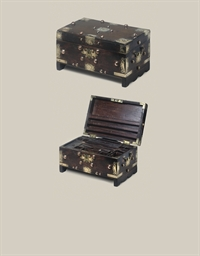 A Dutch East India Company hardwood work  writing box, circa 1790, believed to be from Ceylon