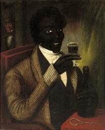 A Negro drinking port wine