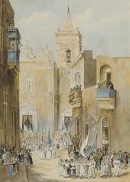 A religious festival infront o