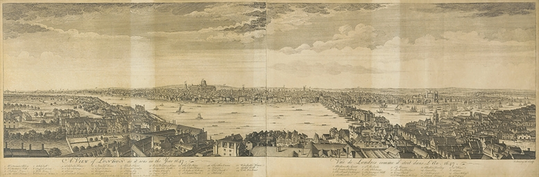A View of London as it was in