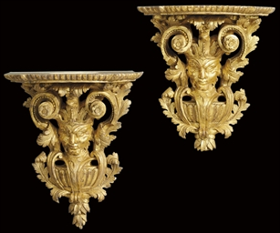 A PAIR OF FRENCH GILT COMPOSIT