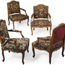 A SET OF FOUR LOUIS XV BEECHWO