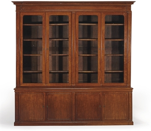 A FRENCH MAHOGANY BIBLIOTHEQUE