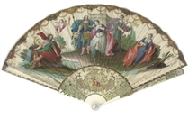 'BACCHUS AND ARIADNE ON THE ISLAND OF NAXOS', A FINE FAN