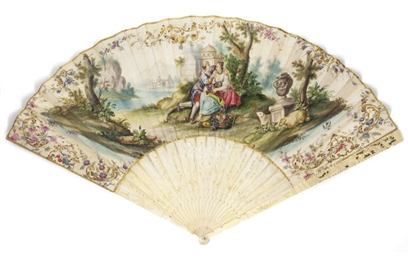 A FAN, DEPICTING LOVERS PICNIC