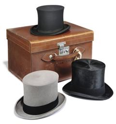 A SET OF GENTLEMEN'S HATS IN F