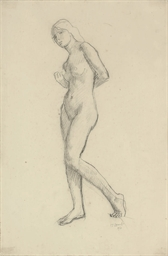 Standing female nude; Standing