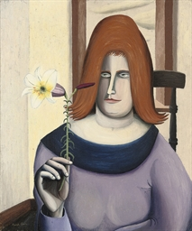 Portrait of a lady with a lily