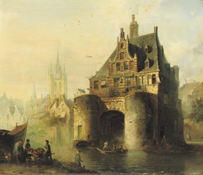 The Waterslootse poort with th