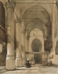 A sunlit church interior