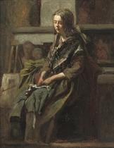 Meisje in het atelier (Trijntje Toet): posing for the artist