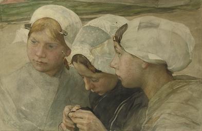 Drie Scheveningse meisjes: thr