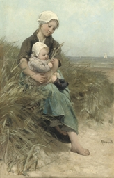 Moedertrots: in the dunes