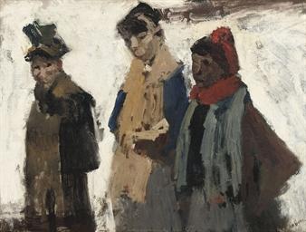Drie vrouwen in de sneeuw: in
