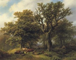 Een Boomrijk landschap met koe