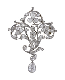 BROCHE BELLE EPOQUE DIAMANT