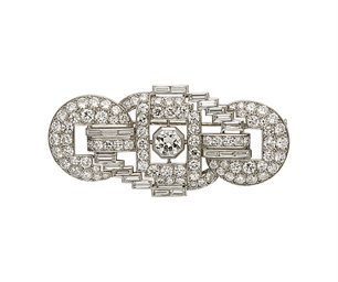 BROCHE ART DECO DIAMANTS