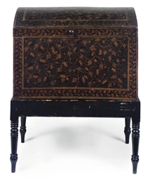 AN ANGLO INDIAN LACQUERED CHES