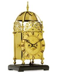 A Victorian brass quarter stri