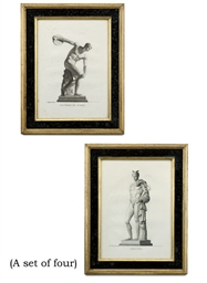 A SET OF FOUR ENGRAVINGS OF CL