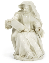 A BOW WHITE PORCELAIN FIGURE O