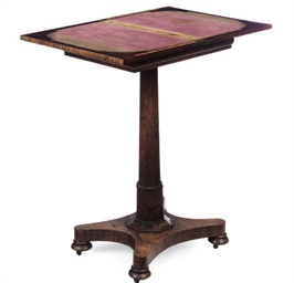 A REGENCY ROSEWOOD GAMES TABLE