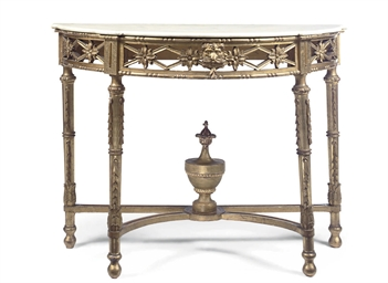 A SPANISH GILTWOOD CONSOLE TAB