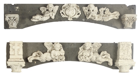A GROUP OF FRENCH CARVED MARBL