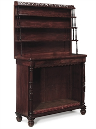 A WILLIAM IV MAHOGANY OPEN BOO