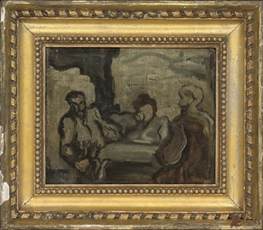 Figures at a table