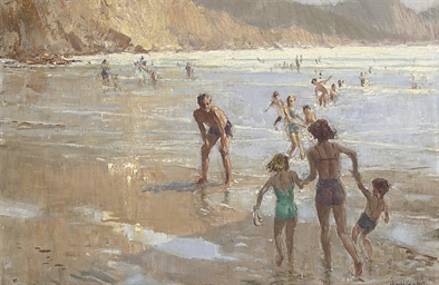 Bathers at Crackington Haven