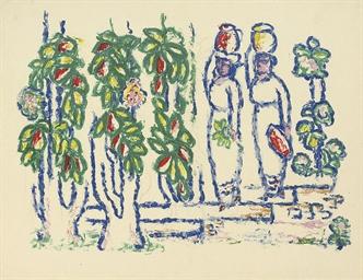 Mujeres en el jardin