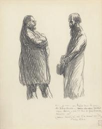 Deux hommes discutant